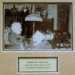 Homer St. Clair Pace in his Study